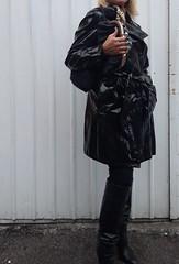 pvc shiny raincoat (heelrubberboots) Tags: pvc raincoat rainwear gloves guantes boots botas fetish rubber leather mac macs mackintosh shiny waterproof glossy latex vinyl pu plastic plastique nylon down puffa apron woman kinky dress jumpsuit catsuit thighboots sbr gummi wetlook belts stiefel lackmantel impermeables