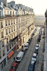 Rue des 2 gares et Garde de l'Est (hasor) Tags: paris france gare de lest street rue cars morning station view