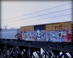 (timetomakethepasta) Tags: freight train graffiti art skull ttx boxcar