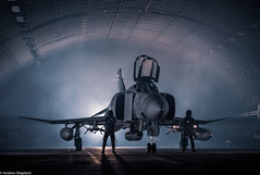 Phantom Pilots (Articdriver) Tags: coldwar royalairforce raf phantom pilots aircraft fighter aircrew hanger wattisham suffolk night
