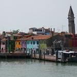 Arrivée à Burano, lagune de Venise, Vénétie, Italie. thumbnail