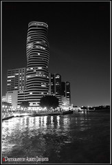 THE POINT BUILDING. GUAYAQUIL-ECUADOR. (ALBERTO CERVANTES PHOTOGRAPHY) Tags: thepointbuilding thepoint building torre tower puertosantaana peer port santaana monochrome blackwhite negroblanco black white guayaquilecuador ecuador guayaquil rioguayas guayas river sea ocean lake streetphotography photography water photoborder photoart republicadelecuador gyeecuador ecuadorgye indoor outdoor blur noche nocturno night nightscape city nightcolor colorlight skyline skyscraper landscapes cityscapes retrato portrait luz light color colores colors brillo bright brightcolors reflejo reflection arquitectura architecture