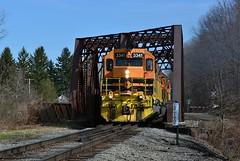 BP 3341 Extra at Carrollton, NY (bobchesarek) Tags: bprr railroad buffalopittsburghrailroad trains locomotive ironbridge