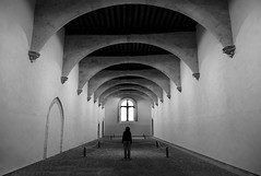 (cherco) Tags: woman cathedral canon solitario solitary silhouette silueta shadow alone architecture arquitectura aloner arch arco adoquinado repetition salamanca spain vanishingpoint lonely sombra church cruz cross iglesia perspectiva perspective