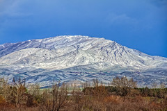 Spring  Snow On Squaw Butte (http://fineartamerica.com/profiles/robert-bales.ht) Tags: gemcounty haybales idaho landscape people photo places scenic states snow spring mountain emmett sweet sunrise squawbutte farm rollinghills idahophotography treasurevalley clouds emmettvalley emmettphotography trees sceniclandscapephotography thebutte canonshooter beautiful sensational awesome magnificent peaceful surreal sublime magical spiritual inspiring inspirational wow stupendous robertbales town butte goldenhour sunset valley greetingcard
