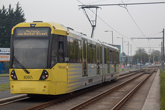Metrolink 3097 (Mike McNiven) Tags: manchester metrolink tram metro lightrail lrv roundthorn wythenshawe baguley manchesterairport airport victoria marketstreet