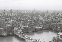 London (goodfella2459) Tags: nikonf4 afnikkor50mmf14dlens fujifilmneopanacros100 35mm blackandwhite film analog city london view buildings river bwfp manilovefilm