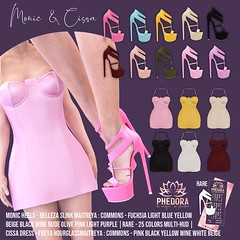 "Phedora. for The Epiphany- ""Monic heels & Cissa dress"" ♥ (Celena Galli ~ phedora.) Tags: secondlife sl second life phedora 3d mesh shoes brand womenswear woman women epiphany theepiphany gacha rare gachamania gachaset fashion event events classy cute chic kinky kawaii sexy sassy style original content 100mesh new newrelease meshbody commons rares 25colors hud multihud flats flat feet maitreya lara slink physique hourglass belleza isis freya venus heels heel metallic glam epiphanygacha single colors common straps strappy strappyheels epiphanyevent"
