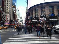 Busy & #Productive Day. Busting Stupid Dope Moves.  #NYC #NewYork #Manhattan #People #7thAvenue #FashionAvenue #Skyline #YellowCabs #iGetAround #CrossWalk #42ndStreet #TimesSquare #SteveMadden #Aladdin (Cheavor) Tags: manhattan aladdin newyork igetaround nyc skyline timessquare stevemadden yellowcabs 7thavenue 42ndstreet crosswalk fashionavenue people productive