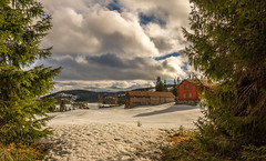 Telemark (bjorgsa) Tags: winther snow ice wood trees norway telemark spring old farm farmhouse sky sunshine