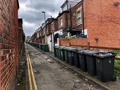 Bin There (Mr_Pudd) Tags: dustbin bin recyclingbin bricks doubleyellowline noparking westyorkshire leeds monkbridgeroad greybin greenbin