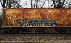 Kiyotes (quiet-silence) Tags: graffiti graff freight fr8 train railroad railcar art kiyote kiyotes hopper jbrx jbrx331