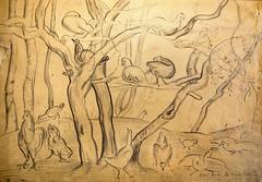 Las aves de doña Pablita, medios mixtos sobre papel (Rafael Edwards) Tags: pintora pintura chilena chilean paintyer artist artista artiste painter aves aguada tinta lapiz papel rafaeledwards raphaeledwards