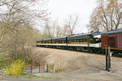 19-1226 (George Hamlin) Tags: virginia railroad passenger train norfolk southern railway office car special ocs northbound emd f9ph diesel locomotive ns 270 spring trees sky paint scheme photo decor george hamlin photography west markham
