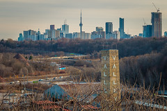 View from the Brickworks Last Spring (A Great Capture) Tags: agreatcapture april22018 brickworks evergreenbrickworks agc wwwagreatcapturecom adjm ash2276 ashleylduffus ald mobilejay jamesmitchell toronto on ontario canada canadian photographer northamerica torontoexplore spring springtime printemps 2018 cntower donvalley parkway park