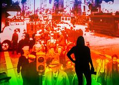 Two Sides of San Francisco (Thomas Hawk) Tags: america aprilgutel bayarea california eastbay museum omca oakland oaklandmuseum oaklandmuseumofcalifornia sf sfbayarea sanfrancisco usa unitedstates unitedstatesofamerica vintage westcoast norcal silhouette fav10 fav25 fav50