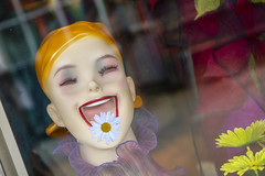 Excuse me...you have something on your lip... (ruthlesscrab) Tags: mannequin daisy lip excuseme wah werehere hereios