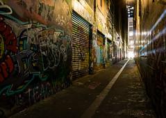 (Laszlo Papinot) Tags: shadow cbd lane road melbourne city graffiti streetart unionlane rollerdoor light