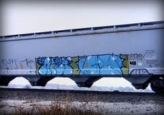 (timetomakethepasta) Tags: niet niets taf icr vrs achoo freight train graffiti art grainer hopper