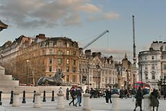 Westminster Cranes From Trafalgar Square (Bri_J) Tags: london uk city capital nikon d7500 westminster cranes trafalgarsquare hdr people buildings lion statue publicsquare nelsonscolumn