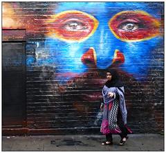 The Eyes Have It (donbyatt) Tags: london shoreditch people candid street urban walls streetart spraycans papua
