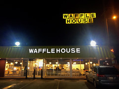 """Church of the Midnight Waffle"" (Halvorsong) Tags: sign signs signage usa america americana greatsigns classic vintage old oldschool night nighttime art frame framed yellow nashville explore discover waffles wafflehouse fastfood dining diner eatery restaurant nightshot photography light shadow urban city roadtrip road roadside street streetshot food halvorsong thesouth tennessee travel wayside warmth welcome outside comfort contrast composition church sanctuary worship projectamerica"