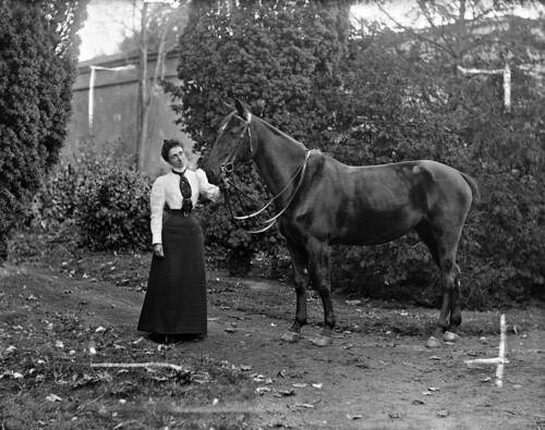 Miss Malcolmson with horse