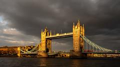 Tower Bridge | Golden Hour (James_Beard) Tags: towerbridge bridge thames london londonarchitecture landmarks fujixt2 fujixf1655 goldenhour sunset dusk greyskies