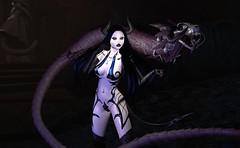 A girl and her dragon demon (beccaprender) Tags: catwa catya bento maitreya lara cureless sintiklia aii oubliette ghoul suicidalunborn plastik demon demoness conviction