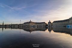Miroir d'eau (PaaulDvD) Tags: bordeaux city gironde aquitaine france colors reflet sun sunset blue urbanscape cityscape