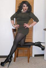 Green (therealdavinawayne74) Tags: crossdresser crossdressing crossdressed crossdress dragmakeup dragqueen drag tgirl transvestite tranny trans tights pantyhose nylons hosiery highheels heels