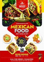 1 (nijum_graphics) Tags: mexican food flyer tacos design clean colorfull creative a4 827x1169