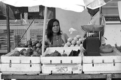 Fruit and vegetables (Beegee49) Tags: street vendor fruit vegetables selling people blackandwhite monochrome bw luminar sony happy planet a6000 bacolod city philippines asia
