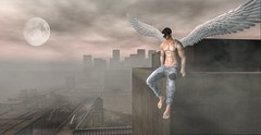 Cuidandote (Sebastriano) Tags: if design wings angel anti event alas secondlife sl men woman unisex