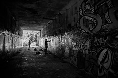 And At Once I Knew I Was Not Magnificant (Thomas Hawk) Tags: america california eureka humboldtcounty humboldtgasworks northerncalifornia usa unitedstates unitedstatesofamerica abandoned bw graffiti fav10 fav25 fav50