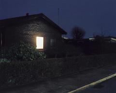 A lit window (Christopher Magni Kjerholt) Tags: bronica gs1 100mm kodak ektar 100 tripod herning denmark 6x7