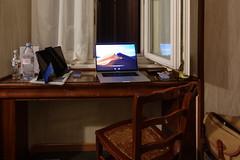 Workspace - Hotel Portoghesi, Rome, Italy (Diacritical) Tags: sony dscrx100m5 2470mmf1828 88mm f18 ¹⁄₁₀sec 800 rome italy mediterranian cruise