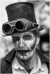 """Whitby Goth Weekend (""""A.S.A."""") Tags: whitby whitbygothweekend northyorkshire britain portrait infrared830nm goth gothic gothweekend gothics primelens sonya7rinfrared830nm zeisssonnarfe55mmf18za blackwhite mono monochrome greyscale niksoftware silverefex asa2019"""