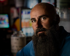 Chad 040919 (TNrick) Tags: man portrait bar bald lowkey nashville tennessee swingindoorsbar