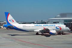 2004 Airbus A320-214 VQ-BFW - Ural Airlines - Prague Airport 2019 (anorakin) Tags: 2004 airbus a320 vqbfw uralairlines pragueairport 2019