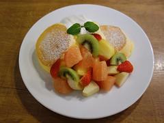 Fluffy pancake heaven (fb81) Tags: japan osaka happy fluffy jiggly souffle pancake breakfast dessert ice cream fruit kiwi banana strawberry pineapple melon food