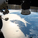 Two Russian spaceships and the east coasts of the United States and Canada