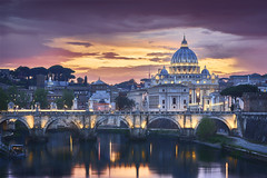 Rome Italie (EtienneR68) Tags: a7r3 a7riii bridge church city cityscape eau italie italy landscape paysage pont river riviere scenery scenic sony travel vatican ville voyage water