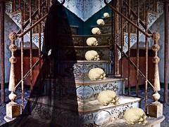 'Retracing Déjà Vu!' (tishabiba) Tags: surreale surreal surrealism artwork illusion digitalart digitalmania perception conceptional artphoto tish afterlife staircase haunting montage floating widow skulls phantom midnight digital ghost mania