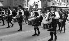 NYC Tartan Day Parade (neilsonabeel) Tags: nikonn90s nikon nikkor film analogue blackandwhite parade tartanday newyorkcity manhattan