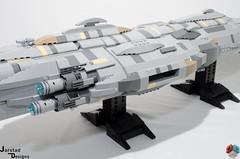 DSC_1478 (Jorstad Designs, LLC) Tags: lego star wars rebel alliance fleet mon calamari scale moc ucs jorstad designs llc mc80a mc80b home one liberty cruiser class hammerhead corvette mc30c frigate dp20 blockade runner