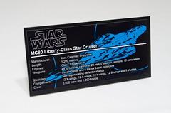 DSC_1400 (Jorstad Designs, LLC) Tags: lego star wars rebel alliance fleet mon calamari scale moc ucs jorstad designs llc mc80a mc80b home one liberty cruiser class hammerhead corvette mc30c frigate dp20 blockade runner