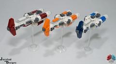 DSC_1395 (Jorstad Designs, LLC) Tags: lego star wars rebel alliance fleet mon calamari scale moc ucs jorstad designs llc mc80a mc80b home one liberty cruiser class hammerhead corvette mc30c frigate dp20 blockade runner
