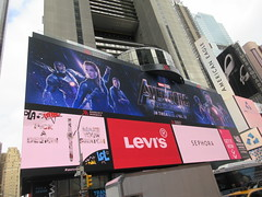 Avengers Endgame Electric Billboard Times Square 6376 (Brechtbug) Tags: avengers endgame steve rogers captain america thor iron man black widow the hulk super soldier marvel shield guardians galaxy comic book hero times square electric billboard movie poster 04172019 theatre holiday ornaments chris evans robert downey jr mark ruffalo hemsworth scarlett johansson 34th street new york city 2019 nyc standee thanos bad guy electronic brie larson carol danvers vers end game