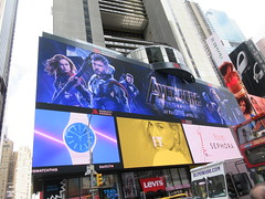 Avengers Endgame Electric Billboard Times Square 6366 (Brechtbug) Tags: avengers endgame steve rogers captain america thor iron man black widow the hulk super soldier marvel shield guardians galaxy comic book hero times square electric billboard movie poster 04172019 theatre holiday ornaments chris evans robert downey jr mark ruffalo hemsworth scarlett johansson 34th street new york city 2019 nyc standee thanos bad guy electronic brie larson carol danvers vers end game